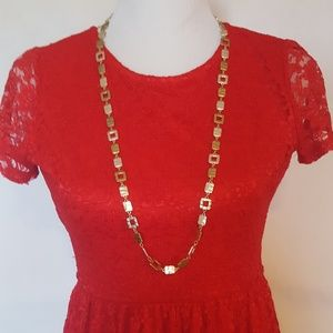 "Lia Sophia 36"" Goldtone, Silvertone Necklace"
